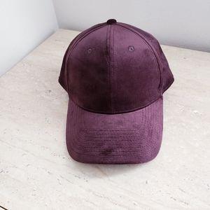 H&M brown velvet cap/ hat size one